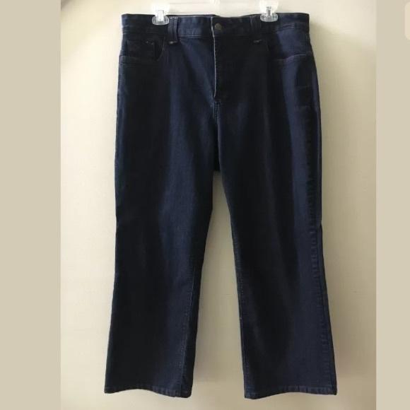 NYDJ Denim - NYDJ Dark Wash Lift Tuck Straight Leg Jeans